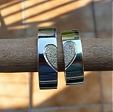 Prstene - zlaté obrúčky so srdiečkom - 2852876