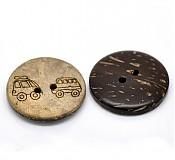 Galantéria - Kokosové gombíky 25 mm - 2857618