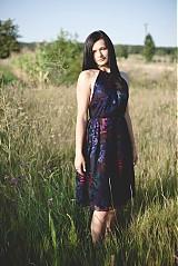 Šaty - Modré hodvábne šaty - 2858618