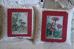 Úžitkový textil - Dekoračný vankúš - víla v bordovom - 2859084