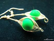 Náušnice - Neónky zelené clariskové... - 2862023