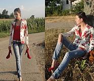 Kabáty - Rozkvitnutá ruža - 2874096