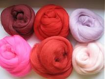 - Merino - červeno ružová sada 60g - 287867