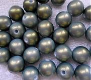 Korálky - Plast s lesk.12mm-šedozel-1ks - 2885310