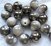 Korálky - Plast dvojfareb.14mm-šedá-1ks - 2885330