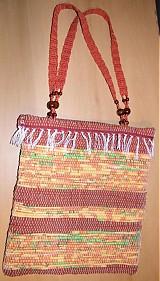 Kabelky - Tkaná taška žlto-hnedá 2 - 2903313