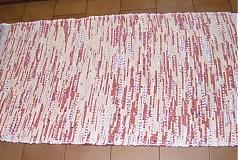 Úžitkový textil - Tkaný koberec bielo-bordový - 2903765