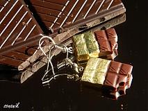 - Čokoládové náušnice-USF146 - 2903767
