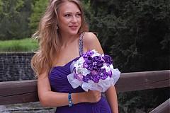 Kytice pre nevestu - Svadobná kytica s brošničkami velká - 2912468