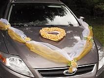 Dvojfarebná výzdoba na auto so srdcom - rôzne farby