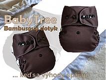 Detské doplnky - Dark Chocolate - Kapsovka s bambusovým dotykom (veľ.S-M-L) - 2926610