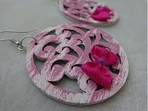 Náušnice - Náušničky ružové - 2937494