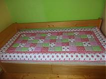 Úžitkový textil - Prehoz patchwork - pestrofarebné kocky - 2938258