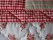 Úžitkový textil - Prehoz patchwork - pestrofarebné kocky - 2938259