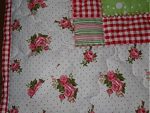 Úžitkový textil - Prehoz patchwork - pestrofarebné kocky - 2938261