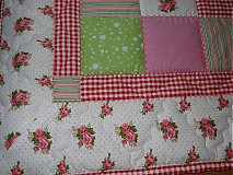 Úžitkový textil - Prehoz patchwork - pestrofarebné kocky - 2938262