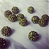 Korálky - shamballa korálky CZ kryštál, olivine, 0.25€/ks - 2939973