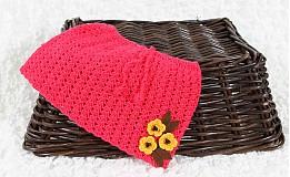 Detské oblečenie - Háčkovaná suknička s kvetinkami - 2942586