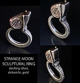 Prstene - Strange Moon (sculptural ring) - 2944125