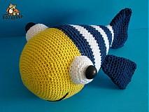 Návody a literatúra - návod na háčkovanú rybku (cca 22cm) - 2946538