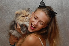 Ozdoby do vlasov - Catwoman ... čelenka - 2947545