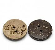 Galantéria - Kokosové gombíky 25 mm - 2947617