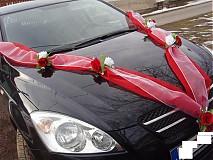 Dekorácie - Výzdoba na auto s ružami - dvojfarebná - 2951371