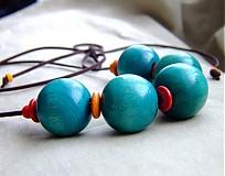 Náhrdelníky - VEĽKÝ tyrkysový s farbičkami - 2964417