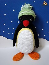 Návody a literatúra - návod na háčkovaného tučniačika (cca 27cm) - 2974929
