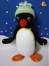 Návody a literatúra - návod na háčkovaného tučniačika (cca 27cm) - 2974930