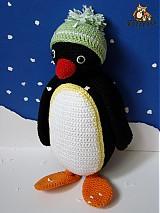 Návody a literatúra - návod na háčkovaného tučniačika (cca 27cm) - 2974931