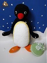 Návody a literatúra - návod na háčkovaného tučniačika (cca 27cm) - 2974932