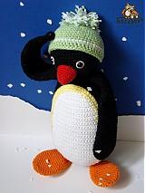 Návody a literatúra - návod na háčkovaného tučniačika (cca 27cm) - 2974934