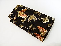 Peňaženky - Motýlci se zlatou, na hnědé - i na karty 17 cm - 2977524