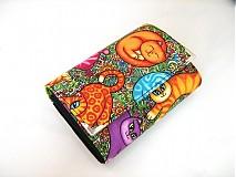 Peňaženky - Veselé kočičky - na karty a 2 měny - 2977585