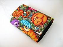 Peňaženky - Veselé kočičky - na karty a 2 měny - 2977586