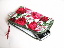 Romantické růže - pouzdro na mobil