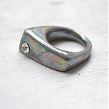 Prsteň sivý / RING RING perleťový vzhled