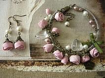 Sady šperkov - Set náramok a náušnice Princeznine ruže - 2978599
