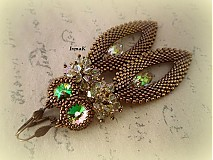 Náušnice - Slzy Luminous green - 2980196