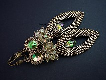 Náušnice - Slzy Luminous green - 2980203