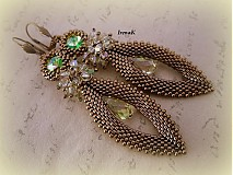 Náušnice - Slzy Luminous green - 2980234