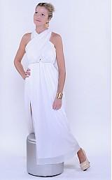 Šaty - Šifónové nariasené spoločesnké šaty rôzne farby - 2986592