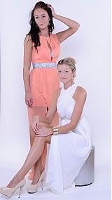 Šaty - Šifónové nariasené spoločesnké šaty rôzne farby - 2986594