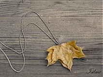Náhrdelníky - Autumn leaf - NEPREDAJNÝ - 2988473