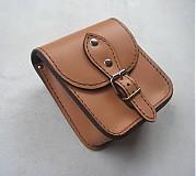 Tašky - Kožená kapsička na doklady pripevniteľná na opasok voľná - 300495
