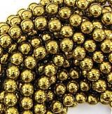 Minerály - Korálky - hematit zlaté, 10mm, 0.13€/ks - 3006773