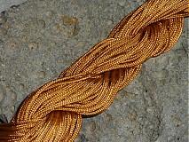 Galantéria - Nylonová šnúrka 1,5mm Svetlohnedá 24 - 3013140