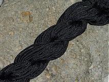 Galantéria - Nylonová šnúrka 1,5mm Čierna 16 - 3013215