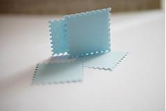 Papiernictvo - Bledomodré menovky / visačky na svadbu - 3013714
